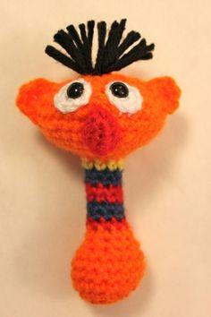 Ernie Baby Rattle Sesame Street Crochet