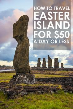 10 Things You Must Do In Easter Island - and it's not all about Moai statues! Ever wondered what to do in Easter Island? Here I show you 10 things you must not miss while in this mysterious yet captivating remote island in the middle of the Pacific. Oh The Places You'll Go, Places To Travel, Travel Destinations, Places To Visit, Travel Things, Chili Travel, Travel Chile, Easter Island Travel, Equador