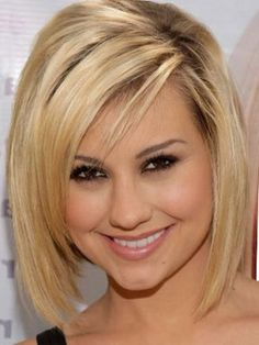 short layered hairstyles Side parted shag