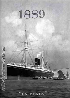La Plata, 1889 Father Images, Sailing Ships, French, Travel, Vintage, Silver, Viajes, French People, Destinations
