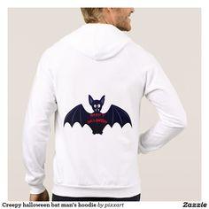 Creepy halloween bat man's hoodie