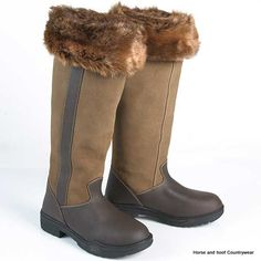 Just Togs Fur Boot Liner A great fashion accessory for your riding or country boots featuring a faux fur turnover top and fleece lining Small size
