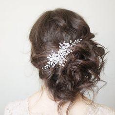 Bridal Headpiece Crystal Bridal Hair Piece Cristal от SvetloDesign