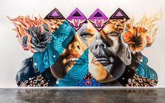 indoor by Tristan Eaton + Kamea Hadar in Los Angeles, 3/15 (LP)