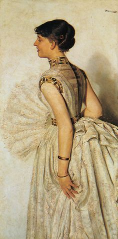 Portrait of the artist's fiance - Jacek Malczewski