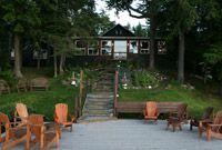 Dockside at Bartlett Lodge on Cache Lake, Ontario Park Resorts, Family Resorts, Tent Platform, Ontario Parks, Algonquin Park, Lakeside Cottage, Park Lodge, Mountain Bike Trails, Sustainable Tourism