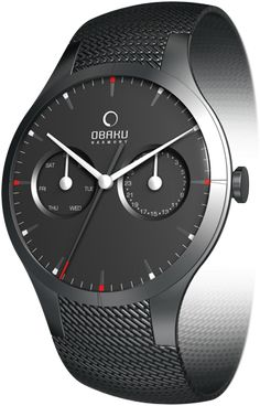 Special Offers Available Click Image Above: Obaku Harmony Mens Slim Sport Stainless Watch - Black Bracelet - Black Dial - V100gbbmb