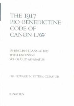 1917 Pio-Benedictine Code of Canon Law