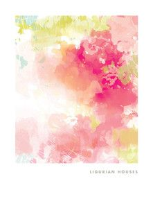 'Ligurian Houses', Kelli Hall, on Minted.com #pink #abstract #art