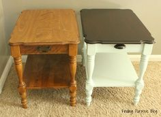 End Table Refresh: Before and After