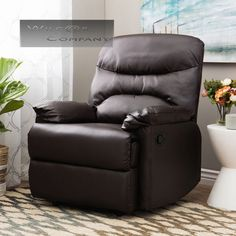 New Beige Leather Recliner Lazy Boy Chair Furniture Barcalounger Seat Livingroom | Recliner Barcalounger and Leather sofas & New Beige Leather Recliner Lazy Boy Chair Furniture Barcalounger ... islam-shia.org