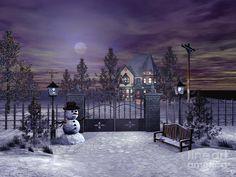 winter night scenery - Google Search