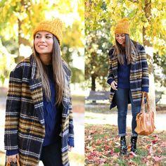 Zara Coat, Zara Beanie, Pull&Bear Knit, Pieces Bag, Zara Boots