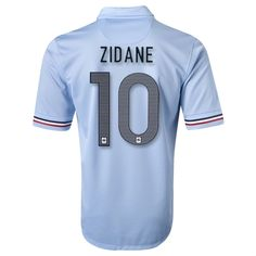 4c8697b5cb523 2013 France  10 ZIDANE Away Blue Soccer Jersey Shirt