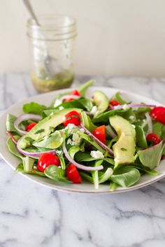 Skip the tortilla chips and make this healthy deconstructed guacamole salad with a cilantro-lime dressing.