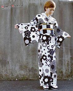 """""""Modern"""" Antenna"""" designed this kimono outfit."""