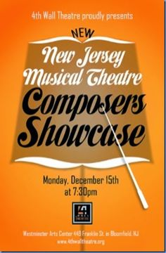 New Jersey Footlights: 4th Wall to present a SHOWCASE of New Jersey Music...