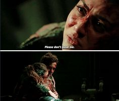 Raven Reyes and Kyle Wick    The 100 season 2 episode 15 - Blood must have blood pt 1    Ravick, Wicken    Lindsey Morgan and Steve Talley