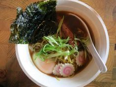 Shoyu ramen is one of two noodle dishes served at a Detroit pop-up last week by restaurateur Jacques Driscoll, who will open Johnny Noodle King this summer. A second pop-up is scheduled Thursday at Great Lakes Coffee on Woodward in Detroit. / Sylvia Rector/Detroit Free Press