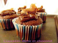 Recette Dessert : Cupcakes datte et chocolat par GateauGaga