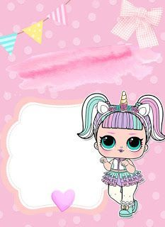 kit festa lol surprise para imprimir - Minha festa Please visit our website, we have a lot of funny and interesting photos. Birthday Party Invitations Free, Unicorn Invitations, Invitation Fete, Invitation Templates, Lol Doll Cake, Doll Party, Lol Dolls, Unicorn Party, Girl Birthday
