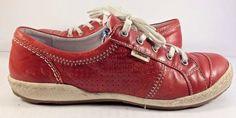 Joseph Seibel Red Caspian Sneaker Womens Size EUR 38M #JosefSeibel #FashionSneakers #Casual