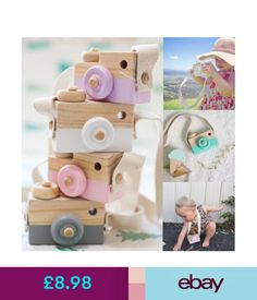 Other Toys & Activities Kids Baby Wood Camera Toys Child Room Decor Natural Safe Wooden Camera Xmas Gift #ebay #Home & Garden