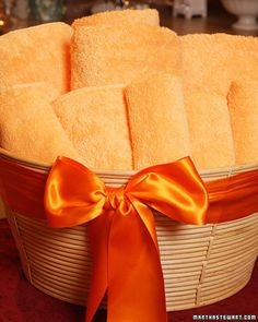 Towel Gift Basket:  There are few things more luxurious than a new set of bath towels.