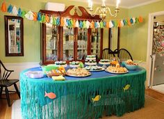 Running from the Law: Mac's First Birthday Party...Under the Sea