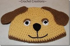 Puppy Dog Hat Pattern from Crochet Jewel posted on Petals to Picots
