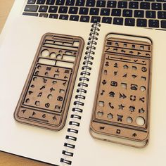 iPhone X and Android stencil prototypes.