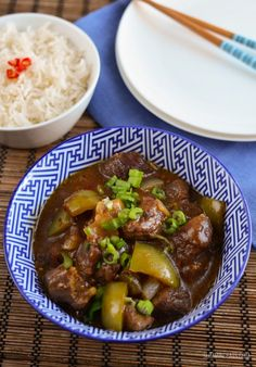 Slimming Eats Slow Cooked Spicy Asian Beef - gluten free, dairy free, paleo, Slimming World and Weight Watchers friendly Asian Recipes, Beef Recipes, Cooking Recipes, Healthy Recipes, Recipies, Cooking Time, Savoury Recipes, Whole30 Recipes, Asian Cooking