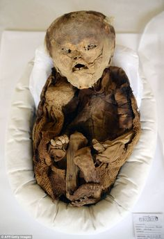 The mummified skeleton has been preserved for more than 1,000 years outside Peru's capital...