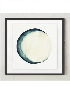 Moon Phases Watercolor Painting. Blue and Cream Canvas Wall Decor. Abstract Full Moon Art Print. New Moon Luna Solar System Illustration. Astrology Crescent Moon Picture Home Decor. In the first Picture the Moon is printed on off-white canvas: Width: 20 - 50,8cm Height: 20 - 50,8cm