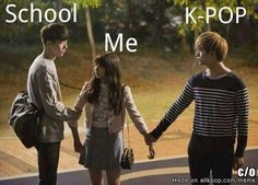 K-pop won! good job k-pop! Memes Humor, Namjoon, Taehyung, Got7, Who Are You School 2015, K Drama, Drama Fever, Bts Memes Hilarious, Funny Tweets