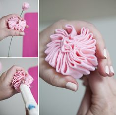 We show you exactly how to make a felt cabbage rose in this step by step diy tutorial. and we also share our favorite resource for gorgeous wool felt! Faux Flowers, Diy Flowers, Fabric Flowers, Paper Flowers, Felt Diy, Handmade Felt, Handmade Flowers, Felt Flower Tutorial, Rose Tutorial
