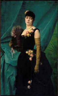 Portrait de madame Lambinet by Gustave Clarence Rodolphe Boulanger, 1887, Musée Lambinet
