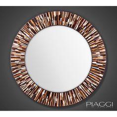 Roulette Light Brown - contemporary mirrors ♥♥ http://piaggi.co.uk/store  #Piaggi #Design