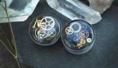 Steampunk Curiosity Gear and Cog Plugs/Gauges for Stretched