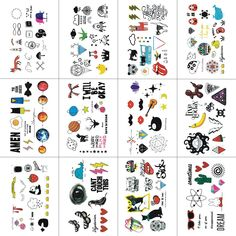 WYUEN 12 PCS Cartoon Small Animals Temporary Tattoo Sticker for Women Fashion Body Art Children Kids Waterproof Hand Fake Tatoo 9.8X6cm (FW12-16) * Find out more about the great product at the image link. (As an Amazon Associate I earn from qualifying purchases) Temporary Tattoo Paper, Temporary Tattoo Sleeves, Body Art Tattoos, Sleeve Tattoos, Tattoo Set, Tattoos For Kids, Body Makeup, Art For Kids, Art Children