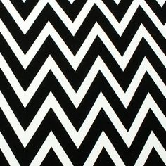 Big Black and Natural White Chevron Jersey ITY Knit Fabric :: $7.00