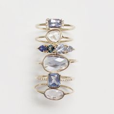 Vale Jewelry PS, Harmony, Adelaide and Sapphire Slice Rings