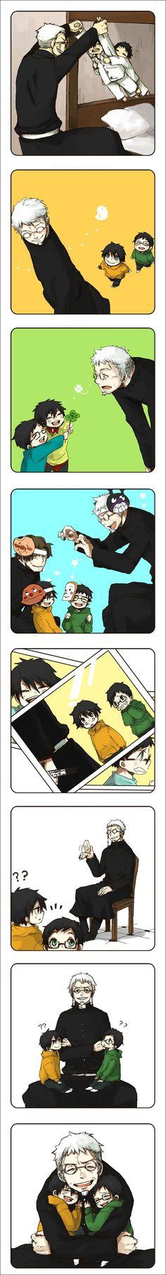 Ao No Exorcist - Shiro, Rin and Yukio