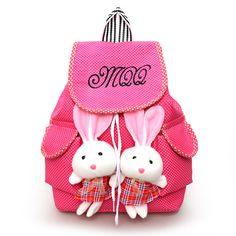 2016 new Backpack kids Rabbit Pendant backpacks for Teenage Girls Children School Bags Infantil Bolsas for Girls Backpack