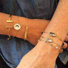 Stacked bracelets from Missoma Liberty Jewellery, Jewelry Accessories, Women Jewelry, Feel Unique, Fashion Jewellery, Vintage Inspired, Jewels, Bracelets, Pretty