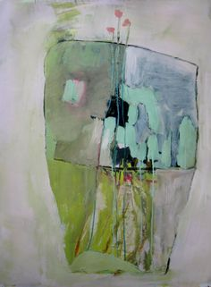 Large Terrarium, Original oil and acrylic painting on canson paper by Brooke Wandall