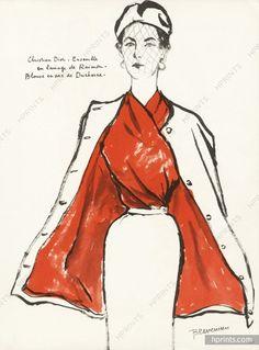 Christian Dior 1952 Sylvia Braverman, Ducharne (Blouse) & Raimon (Fabrics)