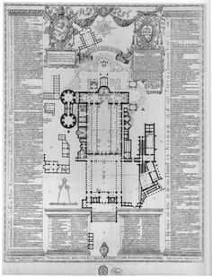 dated 1554 - Old St. Peter's. Rome Floor plan #architecture #design - in the 4th…
