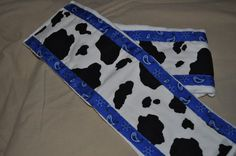 Black/White Cow Print Burp Cloth by sewtasticthings on Etsy, $12.00
