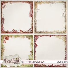 Collections :: Y :: Yesterdays News by BooLand Designs :: Yesterdays News Overlays